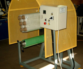 Coating Machine for packing of hand stretch rolls (4 or 6 together)