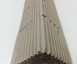 Protective corner of the multi-layered corrugated cardboard - type 2