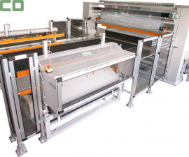 Film wrapping machines - Wrapping machines examples-Machines for packing of mattresses GA 3000 C / 2400